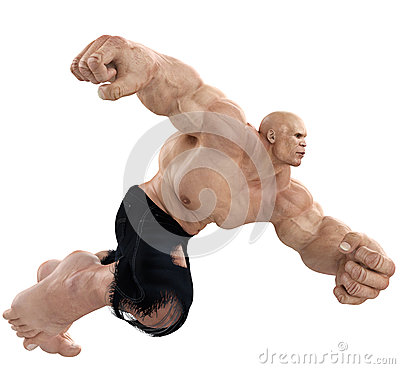 Free Mr Muscle Man Running Royalty Free Stock Images - 50042789