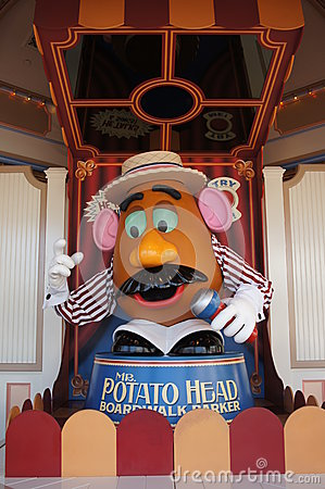 Mr Potato Head at California Adventure Editorial Photo