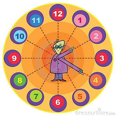 Mr. professor cartoon clock