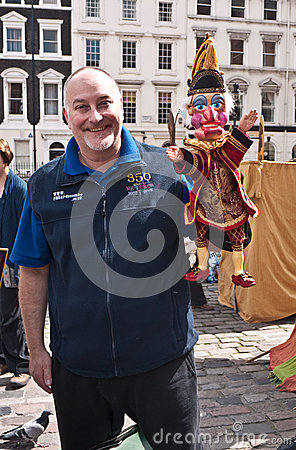 Mr Punch s 350th birthday celebrations. Editorial Stock Image