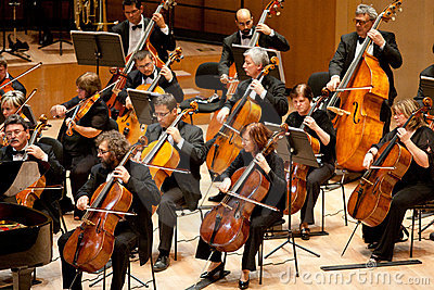 The MR Symphonic Orchestra perform Editorial Photo