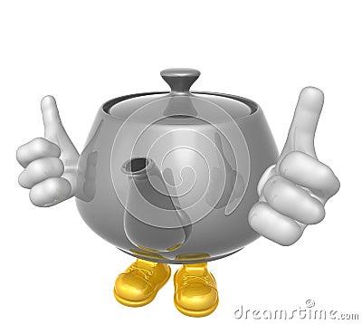 Mr teapot mascot character