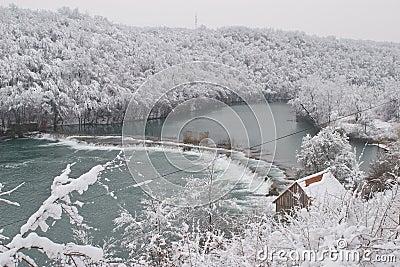 Mreznica river in Winter