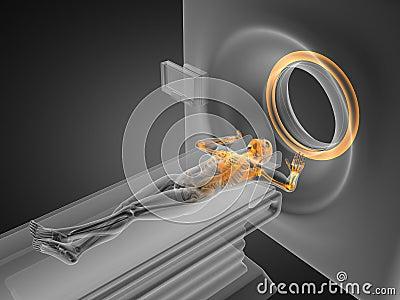 MRI examination made in 3D
