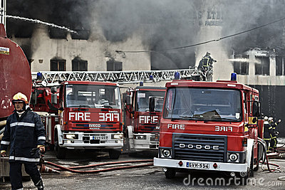 Mriehel Fire Editorial Photo