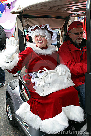 Mrs Claus arrives at Toronto Santa Claus Parade Editorial Image