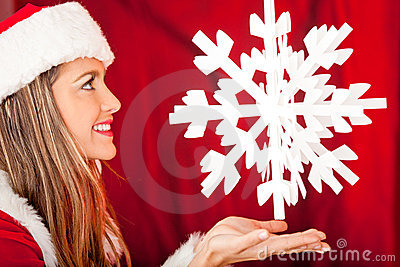 Mrs. Claus with a snowflake