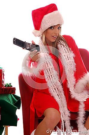 Free Mrs Santa Cell Phone Stock Photos - 277943
