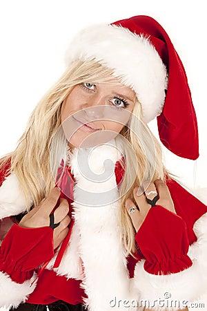 Mrs Santa close happy