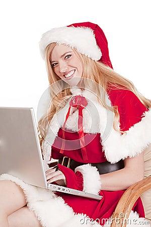 Mrs Santa computer smile