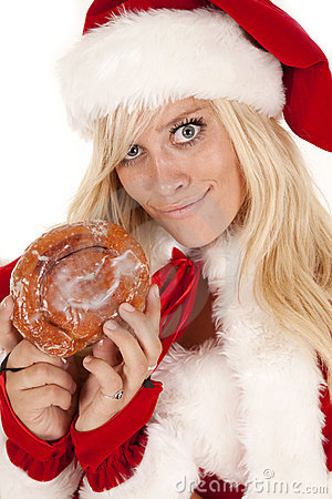 Mrs santa doughnut smirk