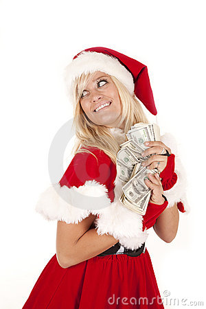 Mrs santa money hide