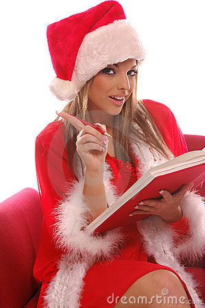 Free Mrs Santa;s List Stock Images - 277944