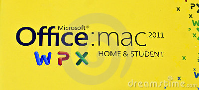 MS Logo of Office Mac 2011 Home & Student edition Editorial Photography
