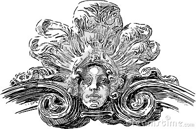 Máscara de Art Nouveau