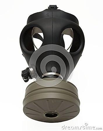 Máscara de gás isolada