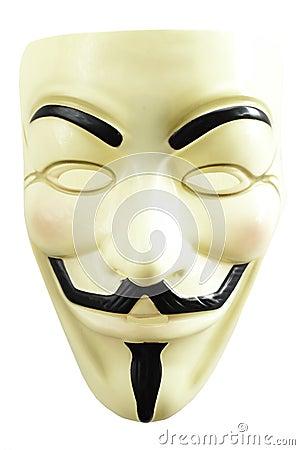 Máscara de Guy Fawkes Imagen editorial