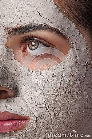 Máscara de la arcilla
