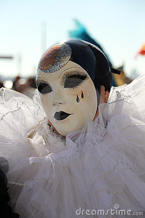 Máscara do carnaval de Pierrot