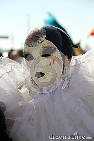 Máscara do carnaval de Pierrot