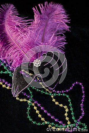 Máscara e grânulos do carnaval
