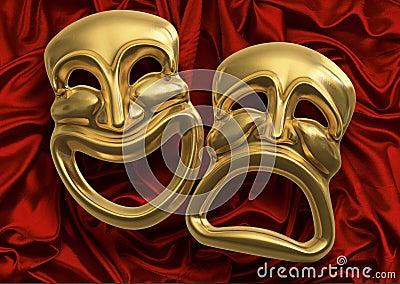 Máscaras da tragédia da comédia