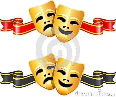 Máscaras do teatro da comédia e da tragédia