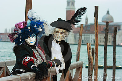 Máscaras Venetian nobres