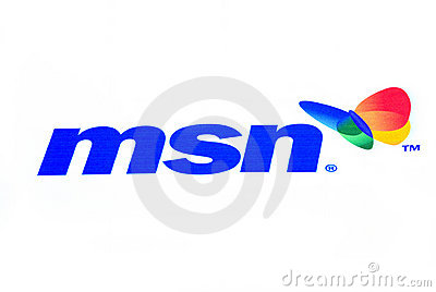 MSN logo Editorial Stock Photo