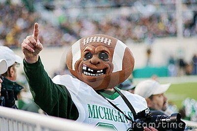 MSU vs Michigan, Football Fan Editorial Photography