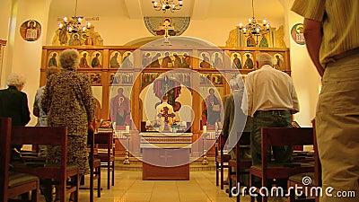 Msza w Greckokatolickim kościół zbiory