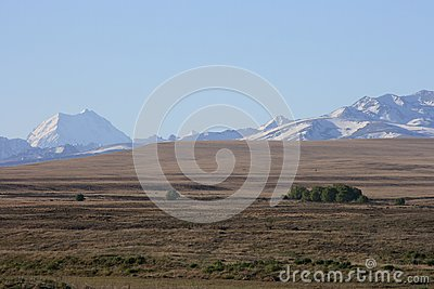 Mt Cook over dry farmland