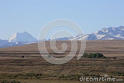 Mt Cook over dry farmland