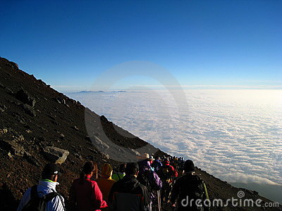 Mt. Fuji Climb Editorial Stock Photo
