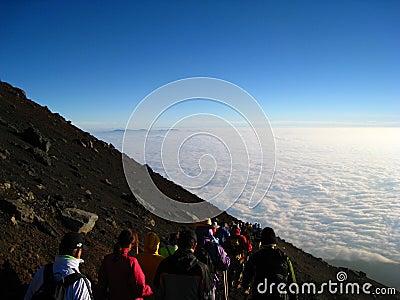 Mt. Fuji Climb Editorial Stock Photo