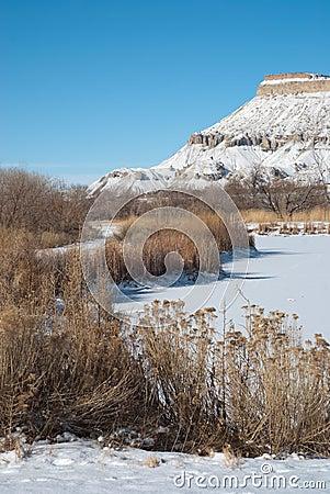 Mt. Garfield in Winter