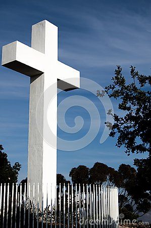 Free Mt Helix Cross With Tree And Clouds Royalty Free Stock Image - 103180366