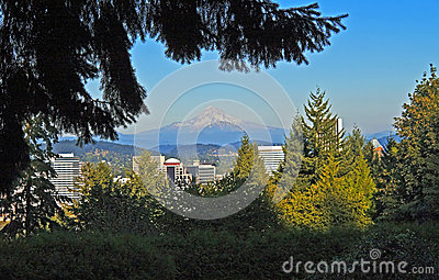 Mt. Hood above Portland, Oregon