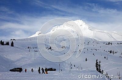 Mt. Hood in winter.