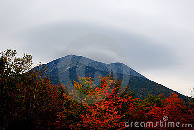 Mt Katahdin in Fall color