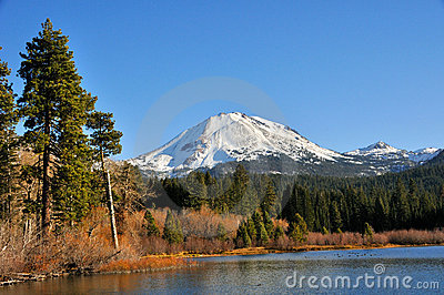 Mt. Lassen above Manzanita Lake
