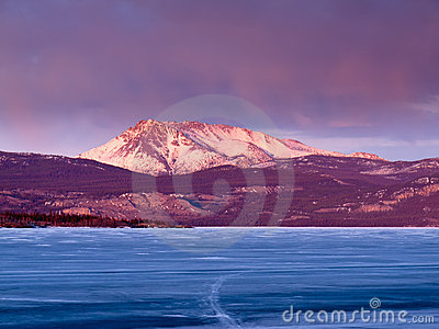 Mt. Laurier and Lake Laberge, Yukon T., Canada