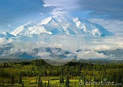 Mount McKinley, Denali National Park and Preserve — Stock Photo ...