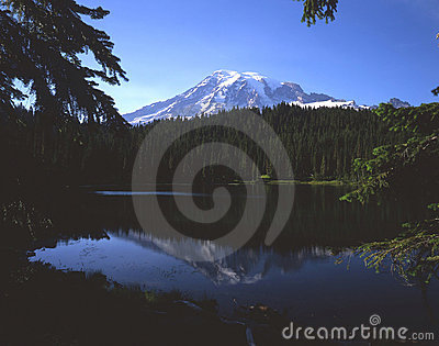 Mt. Rainier & Reflection Lake (H)