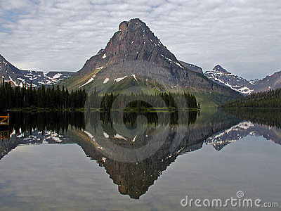 Mt Sinopah Reflected