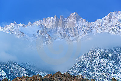 Mt. Whitney, Winter Landscape