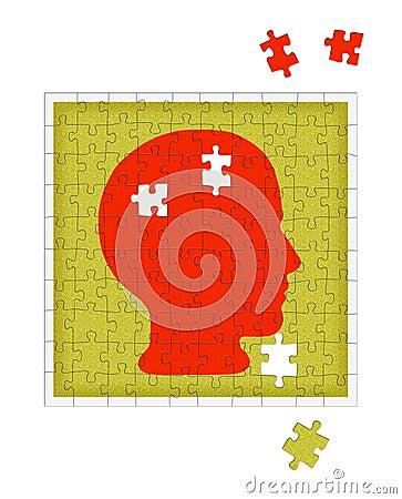 Métaphore de psychologie - désordre de santé mentale, psychiatrie etc.