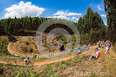 MTB Amphithearter Challenge Editorial Stock Image