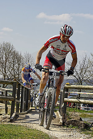 MTB Bundesliga racing 2011, Muensingen, Germany Editorial Photography