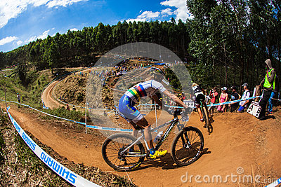 MTB Girls X Country Racing  Editorial Stock Image